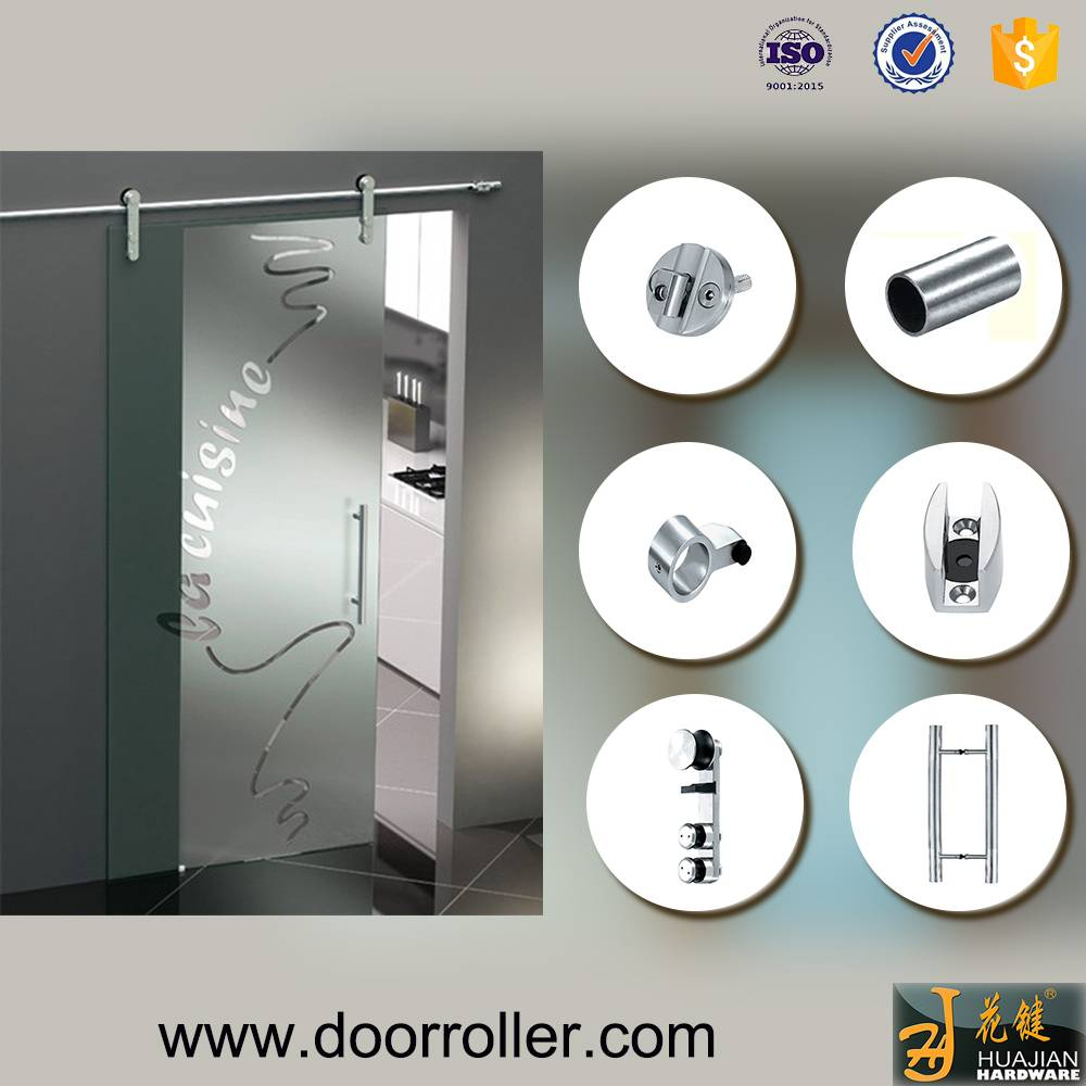 Stainless Steel Sliding Barn Door Hardware for Glass Doors