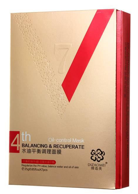 Cosmetic 25g x7pcs Balancing & Recuperate Oil-control Facial Mask Bionic Membrane Mask