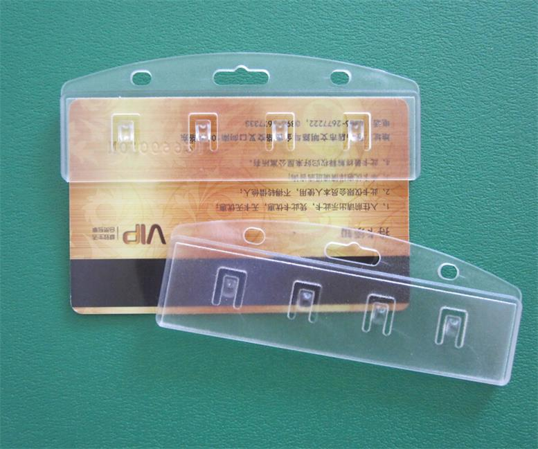 Half-Card Easy Access Badge Holder for Easy Swipe Card Holders/Magnetic Stripe Card Holder