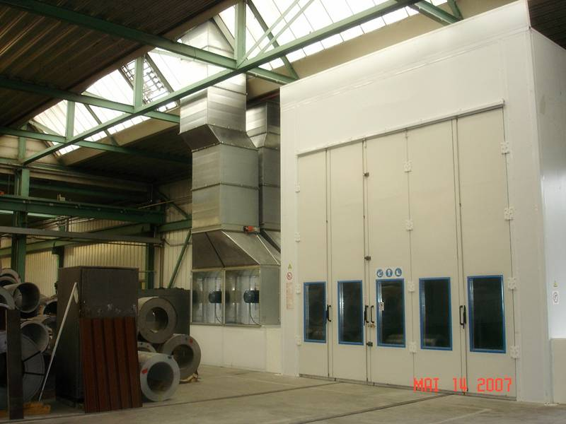 European Customized Paint Spray Booth Painting Room