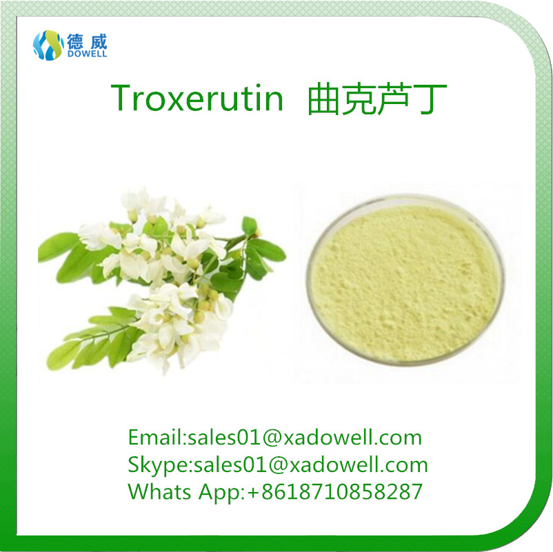 High Purity Herbal Ingredient Natural Sophora Japonica Extract Troxerutin EP 98%