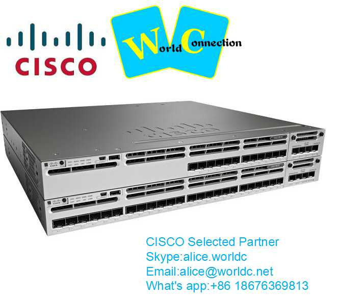 CISCO WS-C3650-48FD-S Cisco Catalyst 3650 48 Port Full PoE 2x10G Uplink IP Base switch