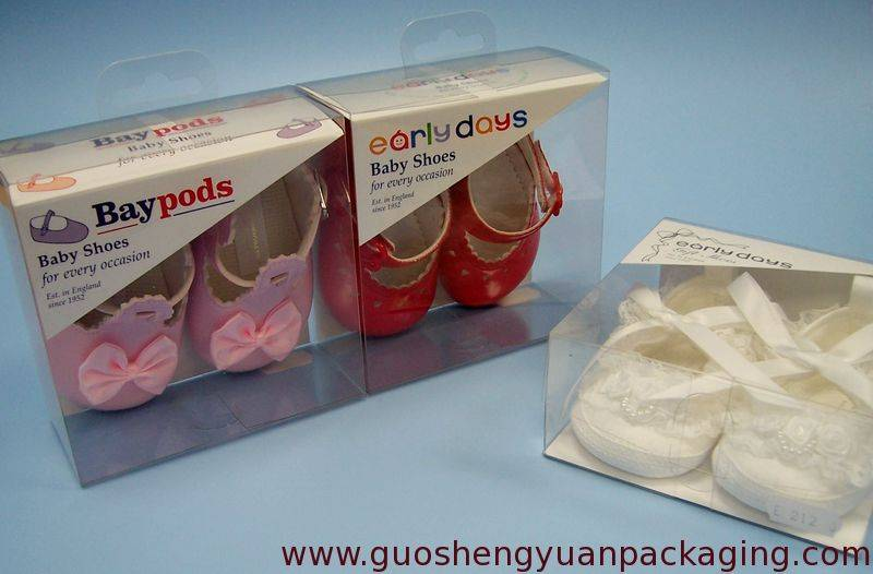 clear plastic box for packaging baby shoes and other baby product