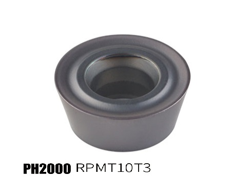 PH2000-RPMT10T3 milling insert for hard steel processing