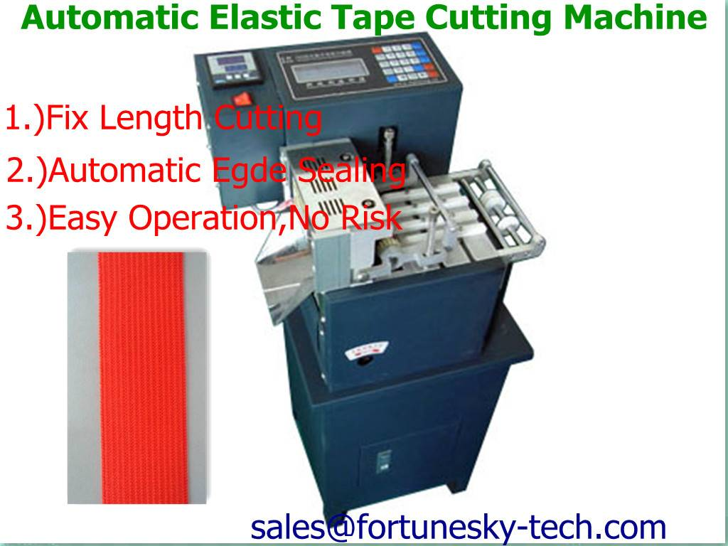 LL-160 Automatic Vertical Elastic Tape Cutter/Auto High Speedy Precise Fix Length Hot Cutting/Auto E