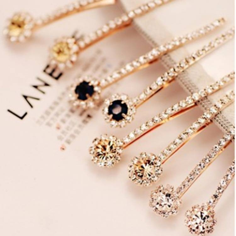 2015 Elegant crystal hairpins rhinstone hair dress wholesale graceful hair accessories