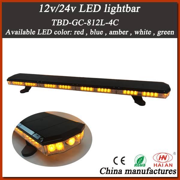Newest Super Slim LED Warning Light Bar in Amber LEDs and Tir Lens