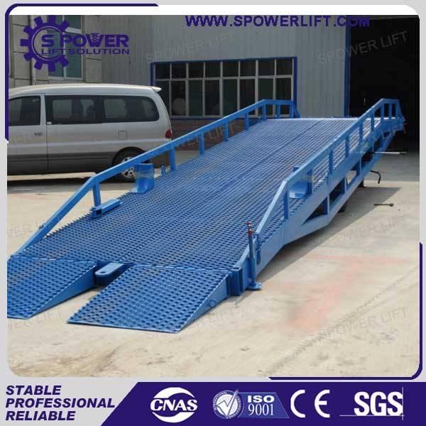 Popular manual mobile container forklift dock ramp