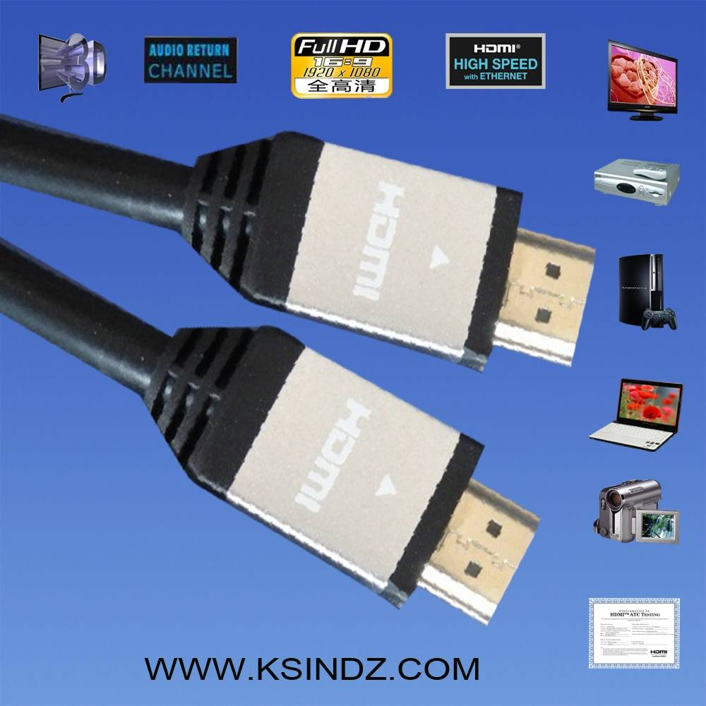 High Speed HDMI Cable with Ethernet,3D support