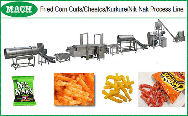 2017 automatic Frying Cheetos Snack Machines