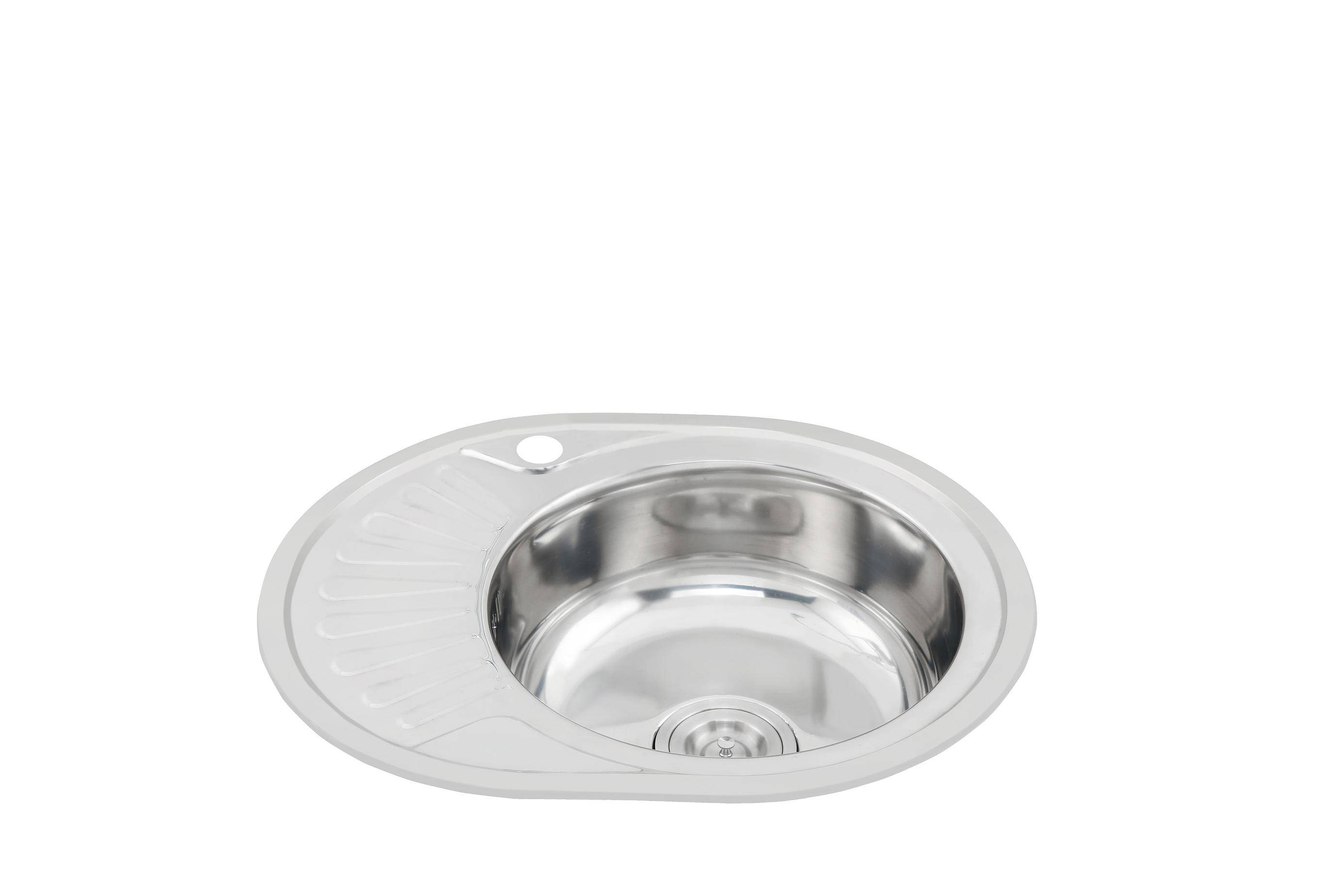 Modern one piece stainless steel sink without faucet WY-5745