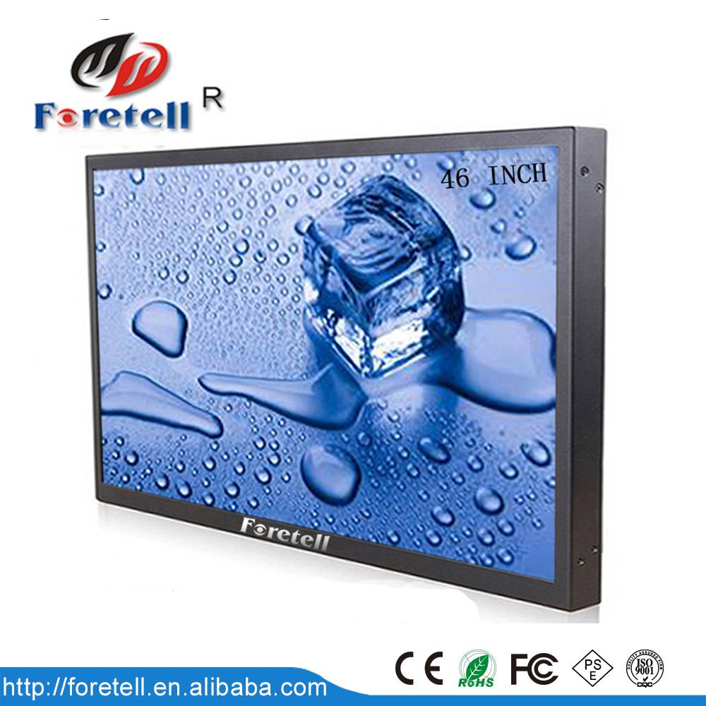 46''high brightness 700cd video wall monitor with wholesale price in Foretell