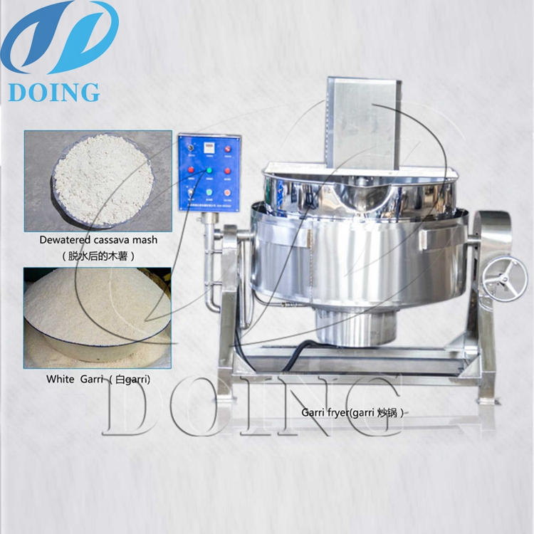 304 Stainless Steel Garri Fryer Machinery Automatic - Henan Doing