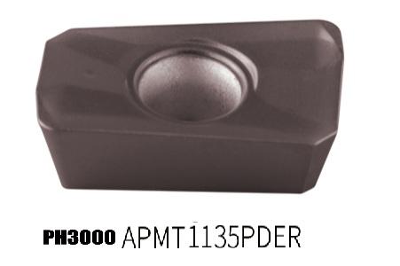 PH3000-APMT 1135PDER Milling insertfor chilled steel processing