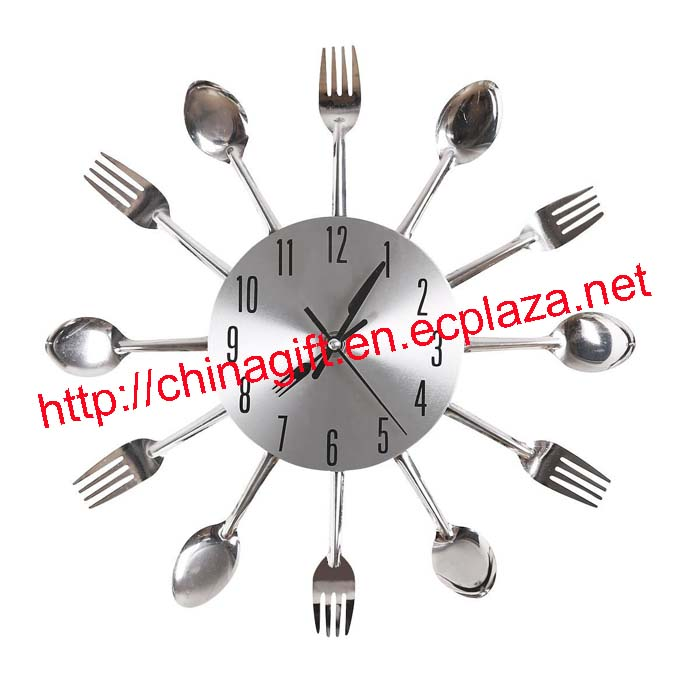 Cutlery Kitchen Fork & Knife Wall Clock
