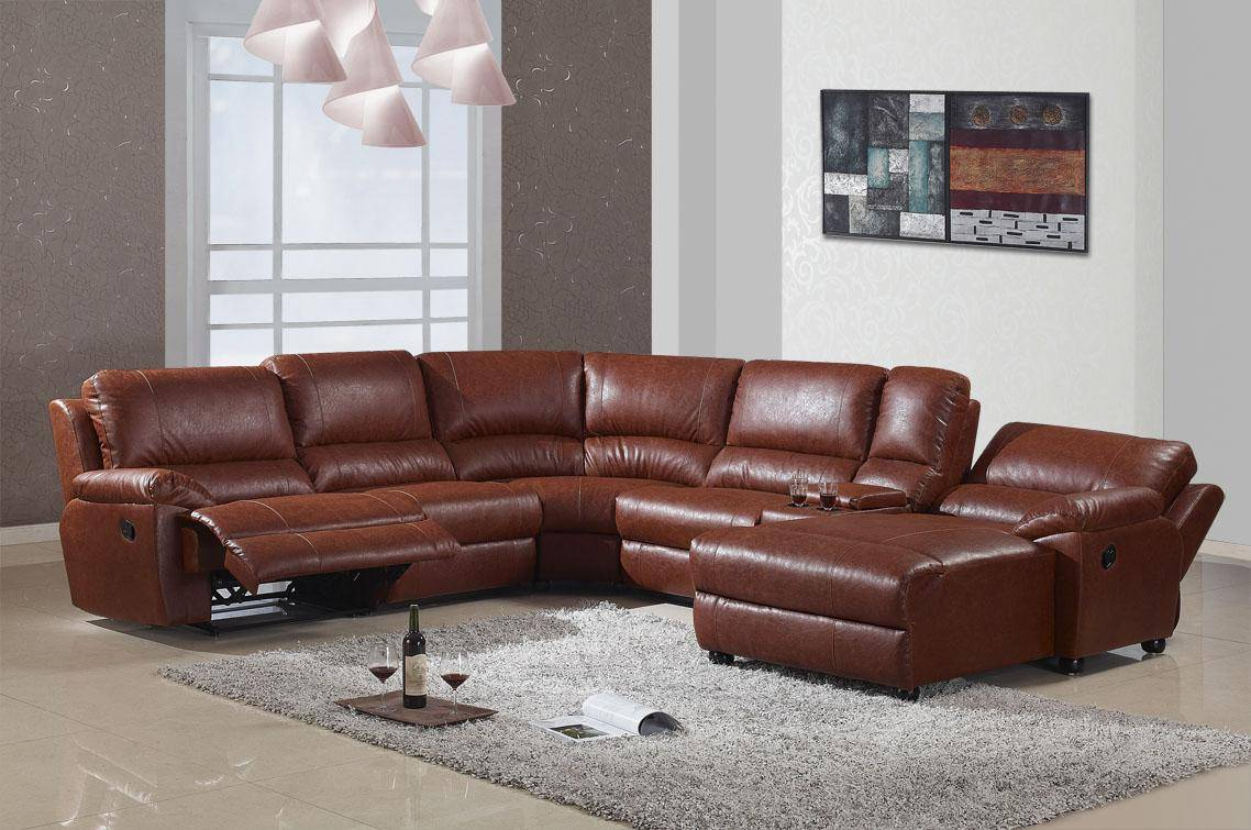 Wholesale portable sectional reclining sofa