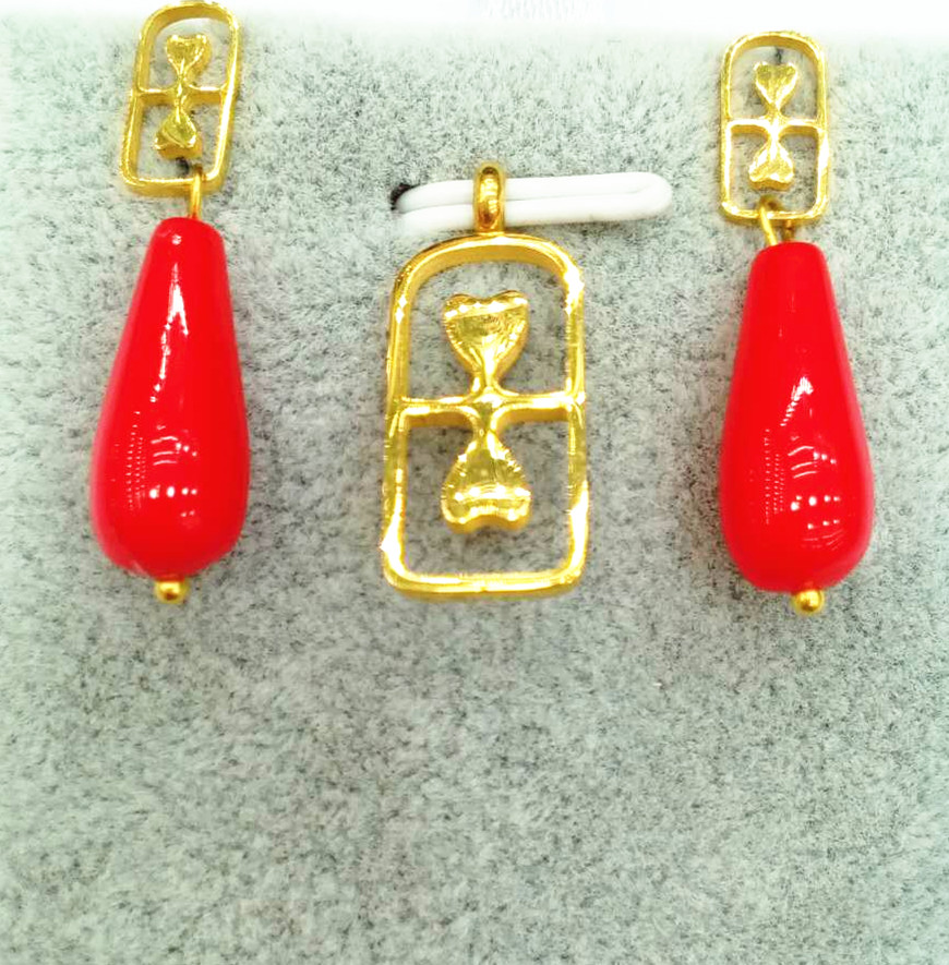 Basketball Jewelry Name plate necklace Fashion red Tear Drop Earring Wedding Prom Bridal Pendant Set