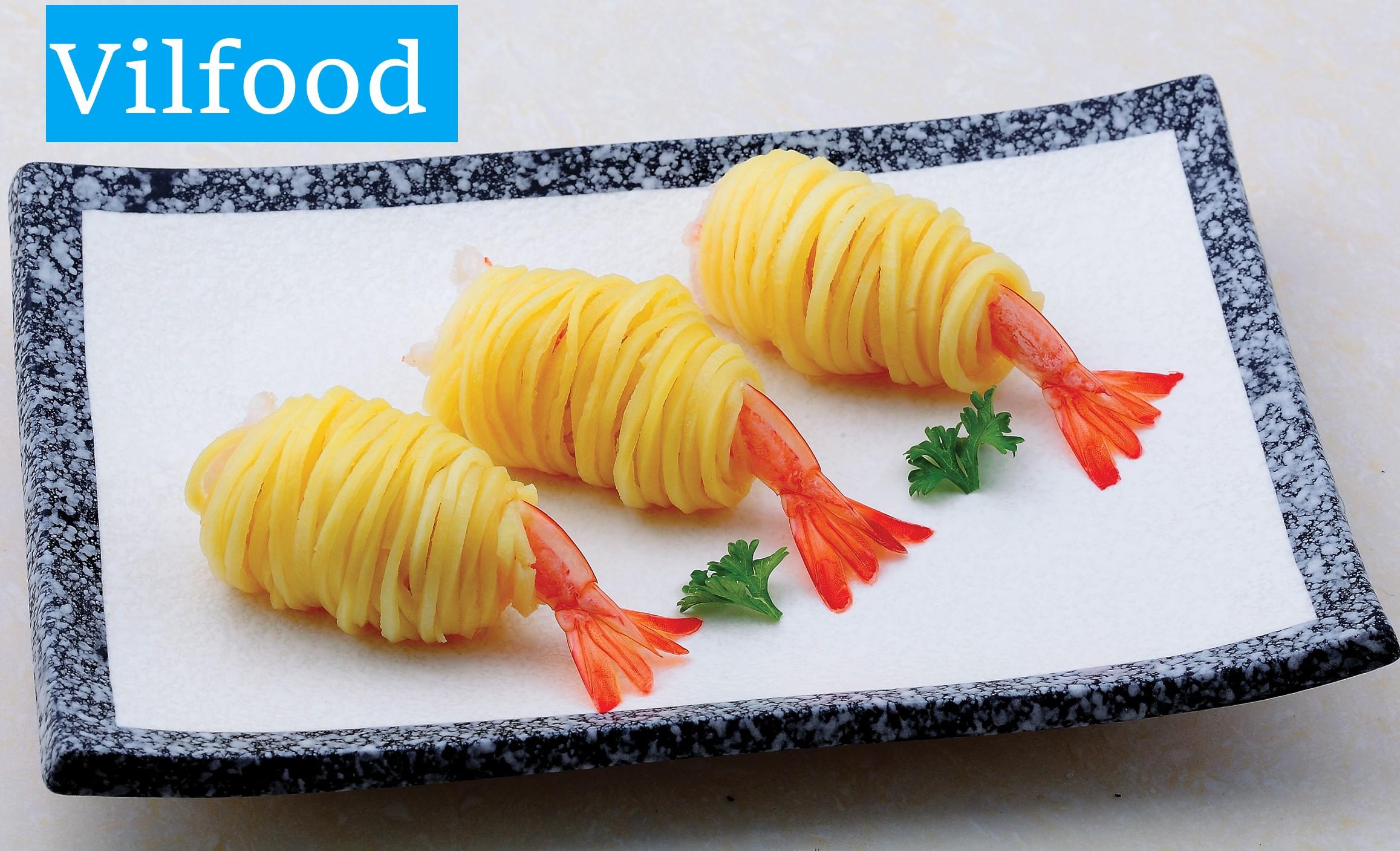 Potato Wrapped Shrimp