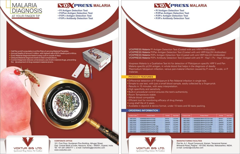 Voxpress Malaria Pf/Pv Antigen Test