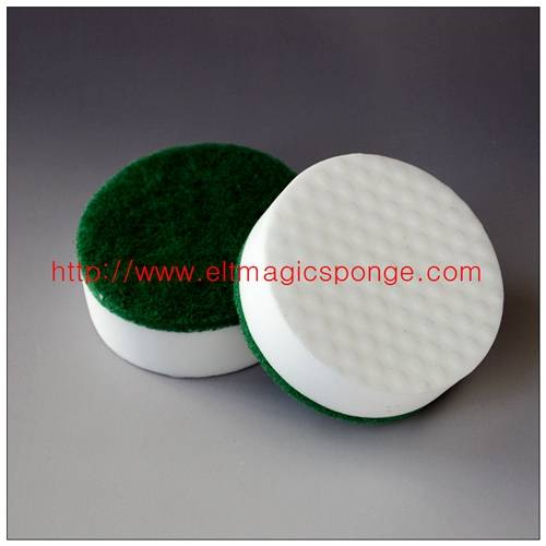 Super High Density Abrasive Magic Sponge Scouring Pad for Bathroom
