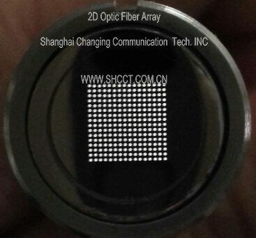 2D optic fiber array