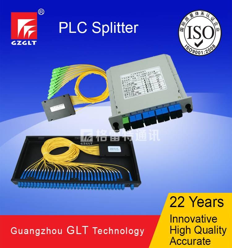 1x2/4/8/16/32/64 plc splitter in ABS/LGX box, rackmount