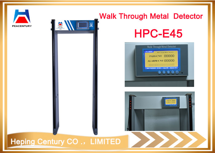 Hot sales 45 zones Walk through military security metal detector door