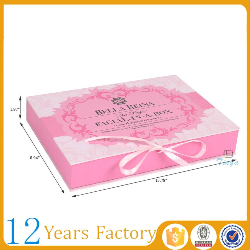 flat paper customized folding gift box