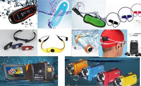 waterproof swimmer IPX8 mp3 player headset