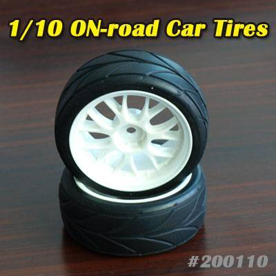 200110 Tires for 1/10 RC on-road Car & Rim rubber CV