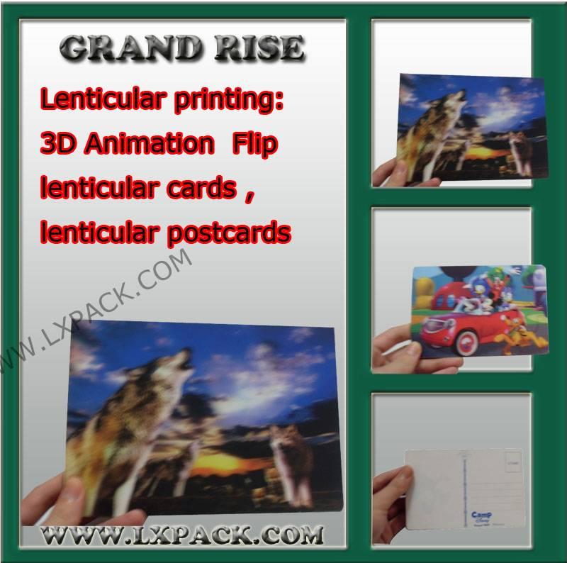 3d postcard , 3d lenticular postcards