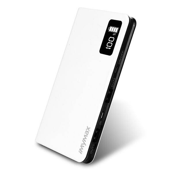 Imymax External Portable 10000mAh 2 USB Interface Business Power Bank