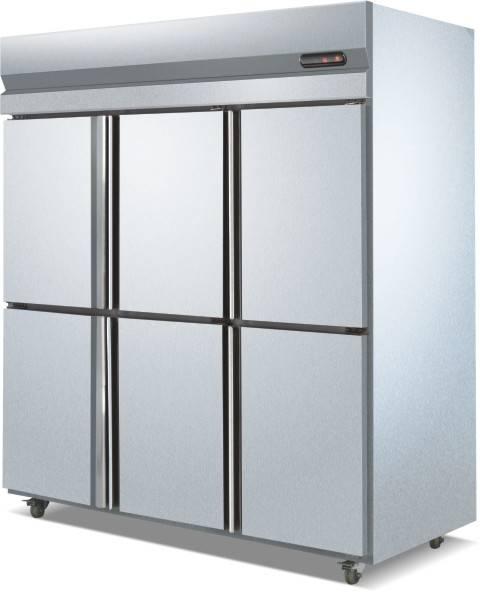 6 Doors Vertical/upright Stainless Steel Refrigerator/freezer; double temperature Refrigerator