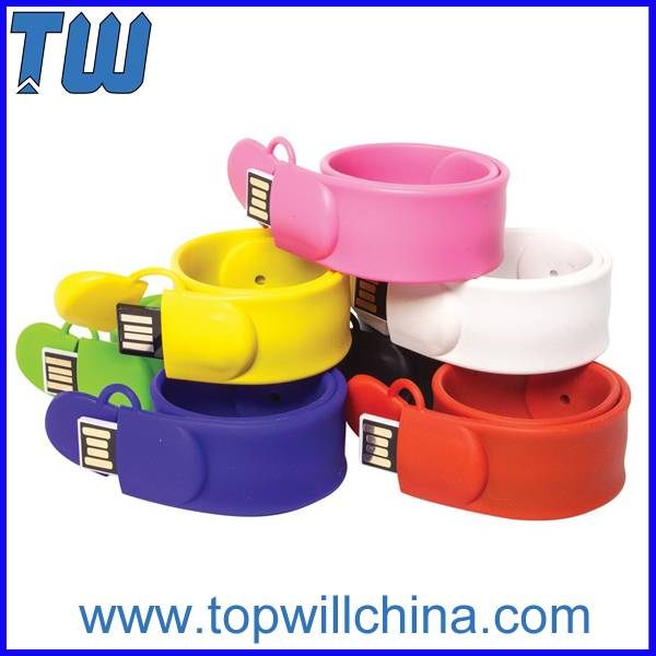 Colorful Silicon Clap Bracelet Usb Flashdrive Cheap Price High Quality
