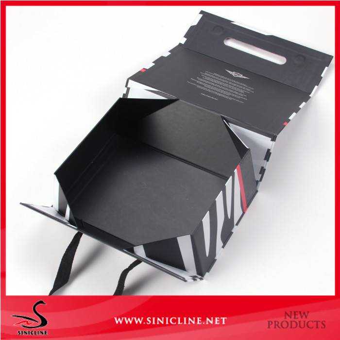 Sinicline Custom Printed Folding Shoe Box Packaging for Women Shoes