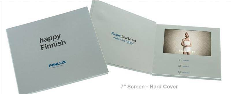 5 inch video greeting card that contain TFT scree buttons and built-in speaker to play video, music,