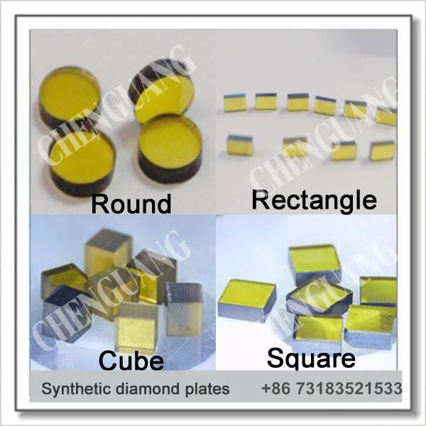 Diamond plate,  synthetic diamond plates, monocrytalline diamond plates