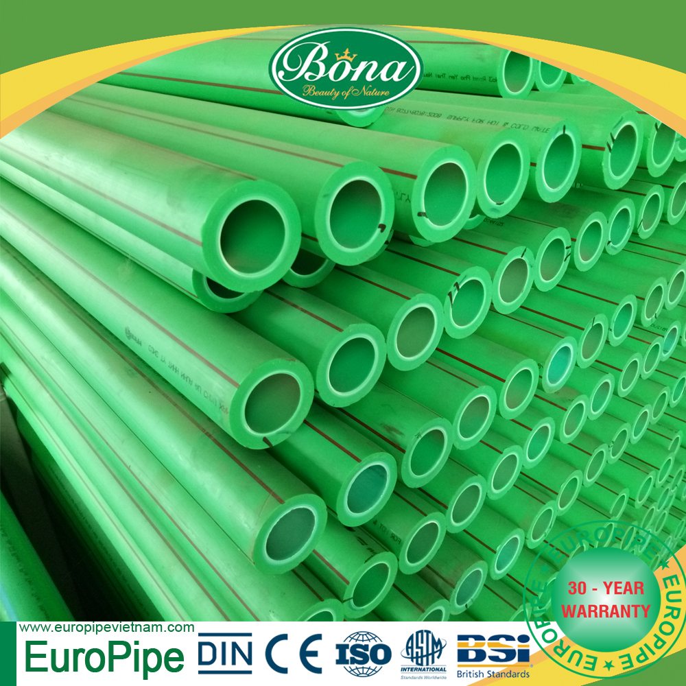 [EUROPIPE] Good quality and DIN certification Popular ppr pipe sizes chart price list