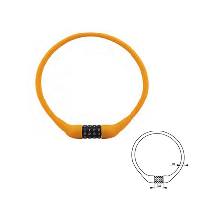 Silicone Combination Lock 84634 Bicycle Lock Manufacturer Cable Lock Distributor