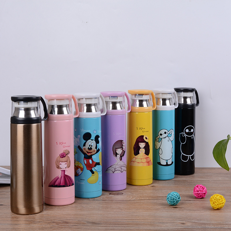 Creative Stainless Steel Vacuum Children Flask