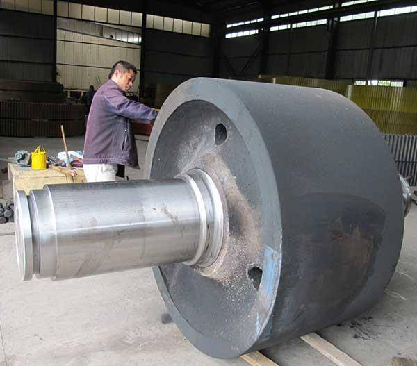 Steel casting,rotary kiln support roller for cement plant