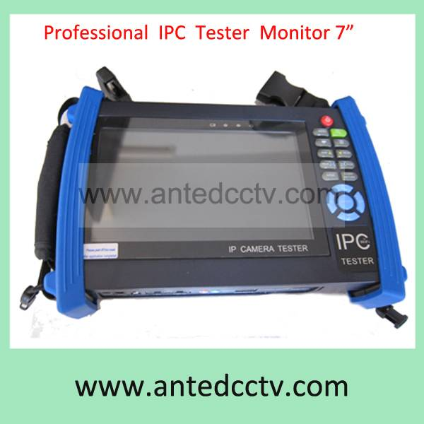 Portable 7 inch touch IP camera Tester tool,CCTV video signal tester monitor