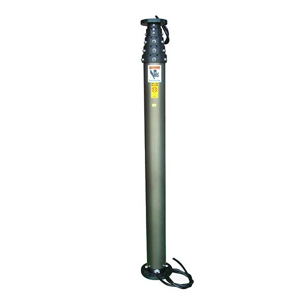 6m Pneumatic Telescopic Mast Lighting Poles for Mobile Light Tower