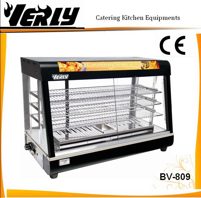 Hot sale Luxurious Glass display food warmer/ warming showcase