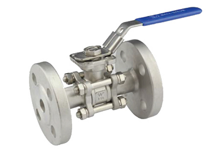3PC Flanged Ball Valve With ISO5211 Mounting Pad