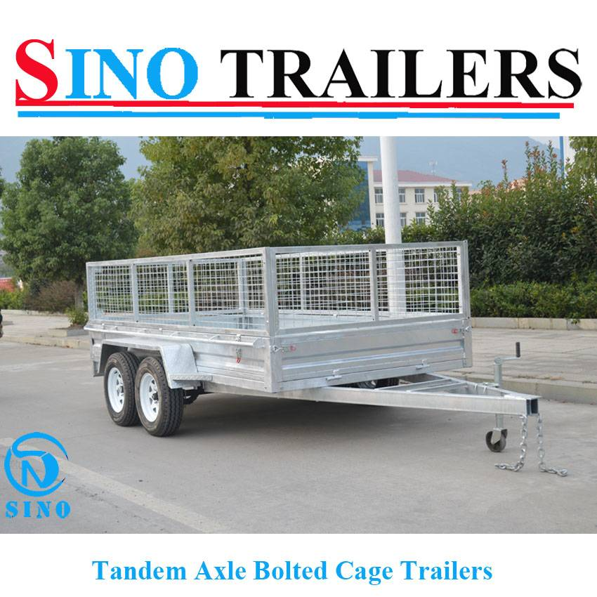 10X6 Hot Dipped Galvanized Tandem Axle Bolted Cage Box Trailer