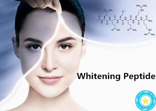 skin lightening and skin whitening cosmetic peptide decapeptide-12/Lumixyl