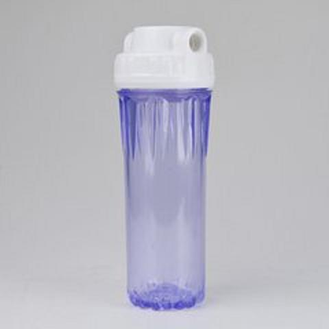 "10""20""slim clear plastic water filter housing"