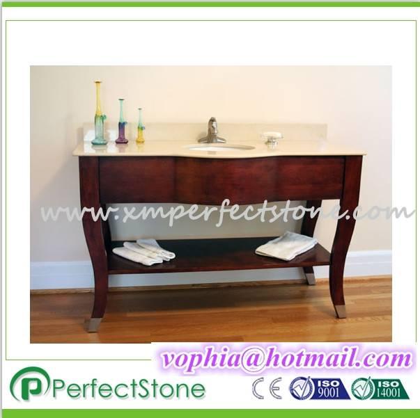 wooden cabinet granite or marble vanity top