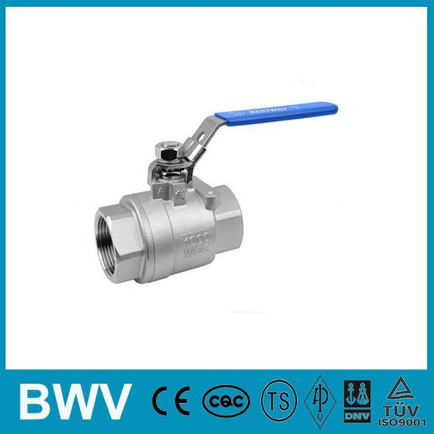 2PC Stainless Steel Ball Valve Threaded Ends 1000WOG